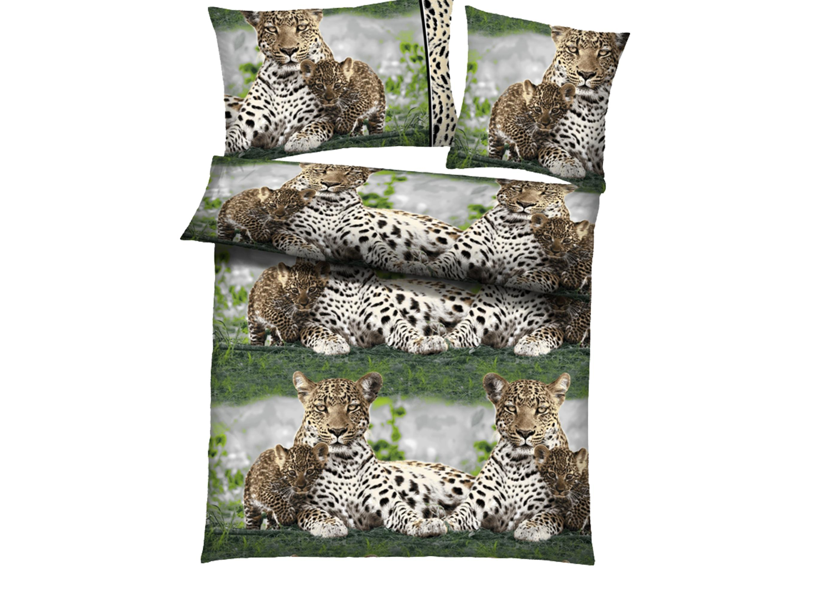 4tlg microfaser bettw sche all seasons f r winter sommer leopard baby 135x200cm ebay. Black Bedroom Furniture Sets. Home Design Ideas