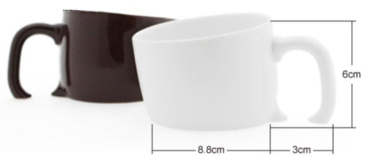 lustige sinkende tassen keramik wei schwarz kaffeebecher. Black Bedroom Furniture Sets. Home Design Ideas