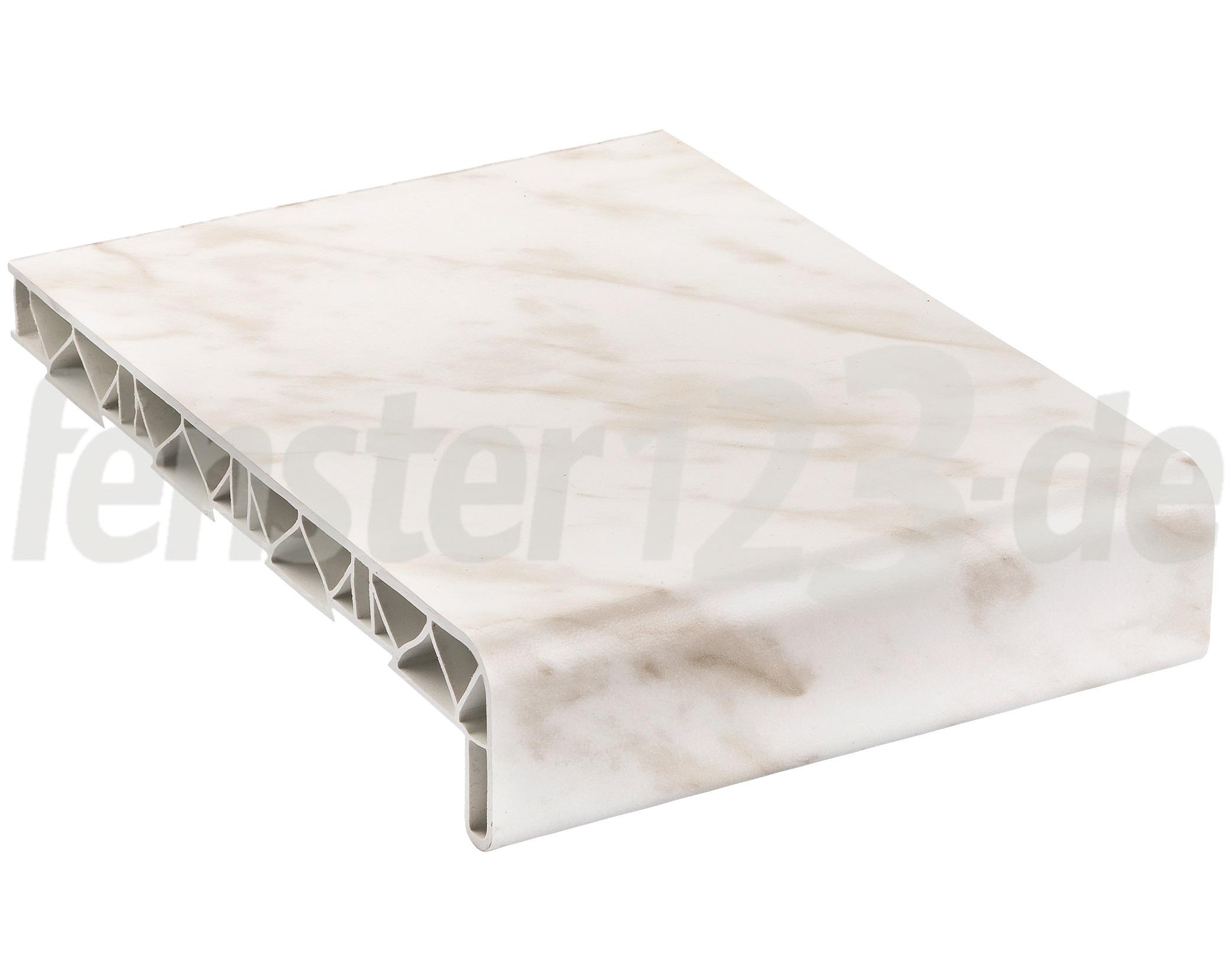 Fensterbank innen marmor alle Längen & Tiefen PVC inkl. Endkappen ...